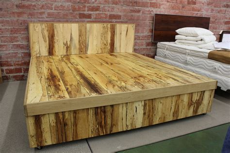 Wooden King Bed Frames Slat And Platform Beds New Living