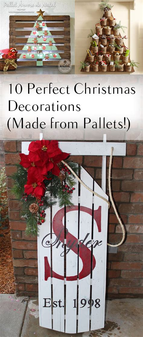 xmas pallet decor 10 perfect christmas decorations made from pallets