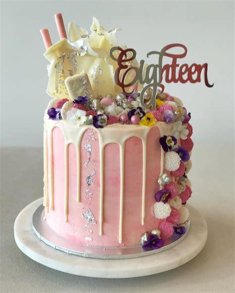 18th Birthday Cakes by Eighteen Acrylic Silver Mirror 18th Birthday Cake Topper