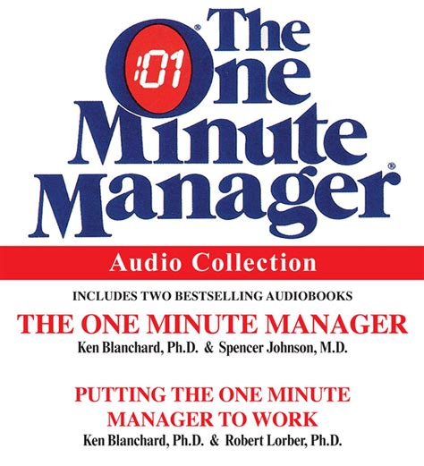 One Minute Manager the one minute manager audio collection audiobook on cd by