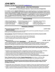General Manager Resume Exle by General Manager Resume Template Premium Resume Sles Exle