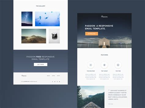 responsive email templates free responsive email templates image collections