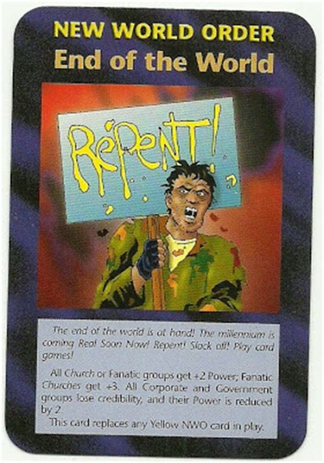 illuminati new world order card anti illuminati eng cards of steve jackson inwo 1995