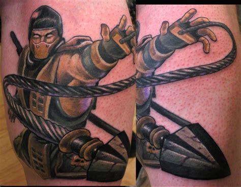 martial arts tattoos on scorpion mortal kombat