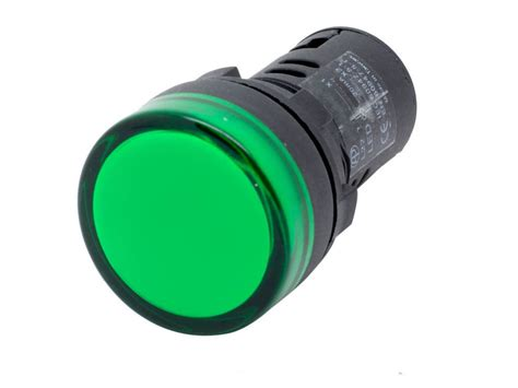led pilot light 24v l22 ati green led pilot panel indicator light 22mm 24v ac