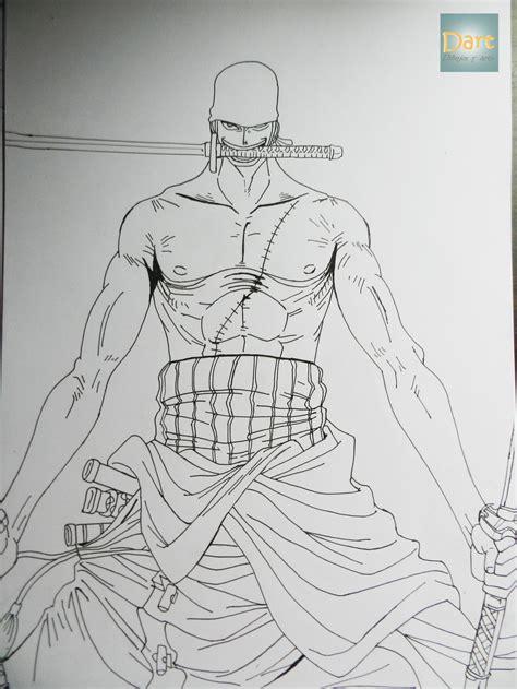 imagenes para dibujar a lapiz de one piece dibujando a roronoa zoro one piece dibujos y arte