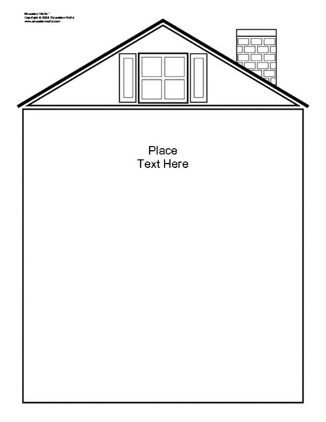 house shapebook unlined template doc education world