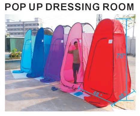 pop up dressing room tent 6 25 portable pop up changing tent room cing pink ebay