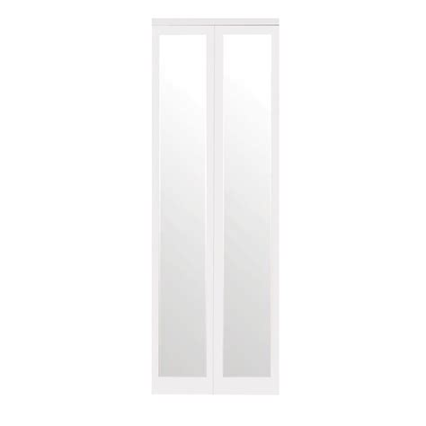 Impact Plus Closet Doors Impact Plus 36 In X 80 In Mir Mel Mirror Solid Primed Mdf Interior Closet Bi Fold Door
