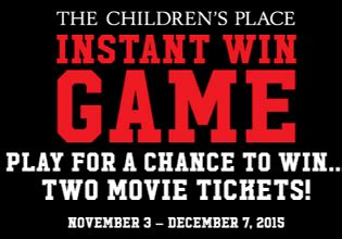 Instant Win Sweepstakes 2015 - sweepstakes the children s place instant win
