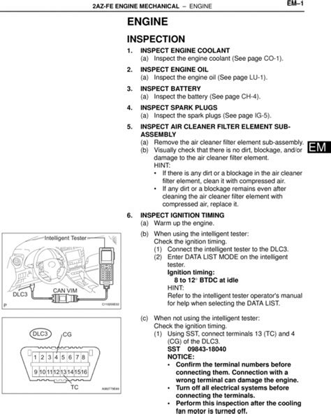 car engine manuals 2012 toyota venza auto manual famous car manual toyota 2az fe engine mechanical workshop repair manual