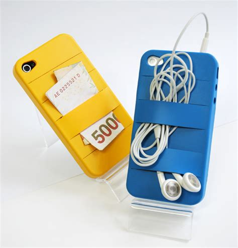 Multi Band For Iphone Sliding Silicone Mobile Phone Holder Iphon handy rubber band inspired iphone wired