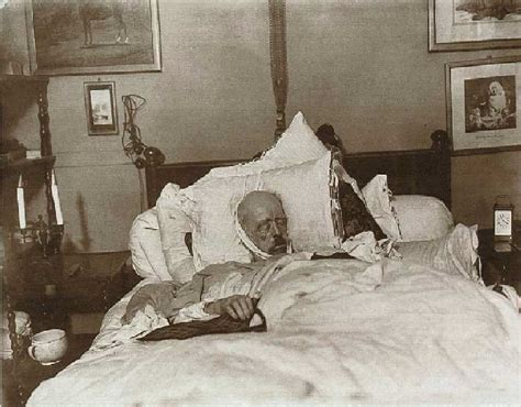 dead in bed bismark on his death bed 1898 lastimages
