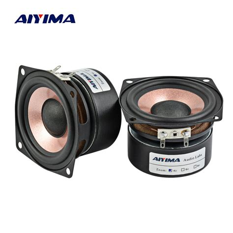 aiyima 2pc 2 5inch audio speaker 4ohm 8ohm hifi desktop