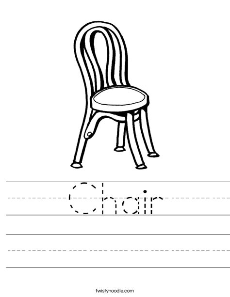a chair for my worksheets chair worksheet twisty noodle