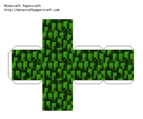 Tree Papercraft - printable minecraft tree leaves