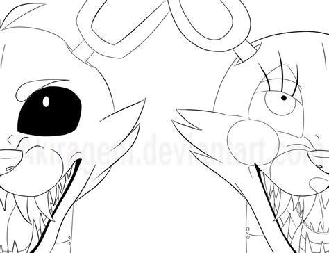 Fnaf 2 Coloring Pages by Fnaf Foxy And Mangle Wip By Akirageni On Deviantart