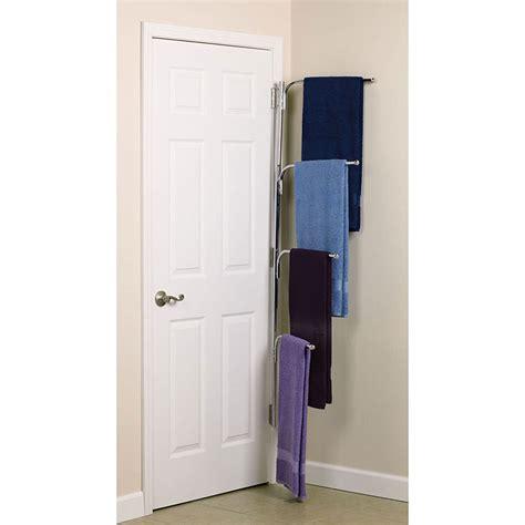 behind the door storage hinge it clutter buster door towel rack chrome in behind