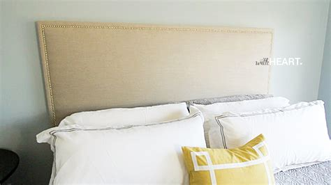 diy padded headboard diy upholstered headboard that doesn t look diy withheart