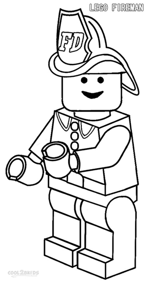 free coloring pages of lego fire