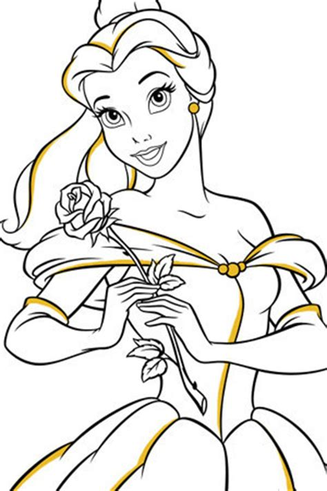 belle rose coloring page snow white colouring page disney create uk