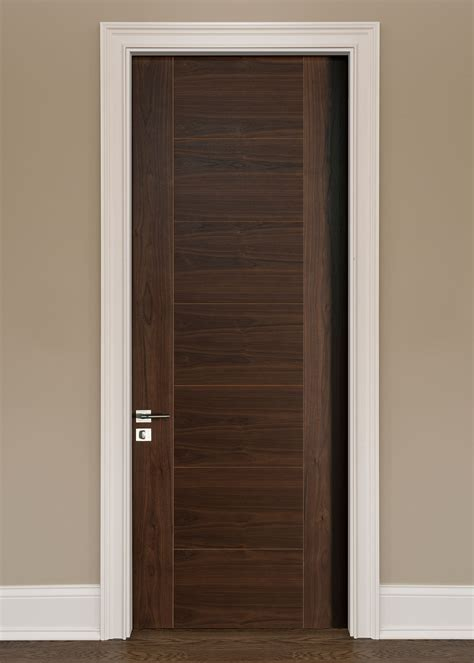 Handmade Interior Doors - modern interior door custom single wood veneer solid