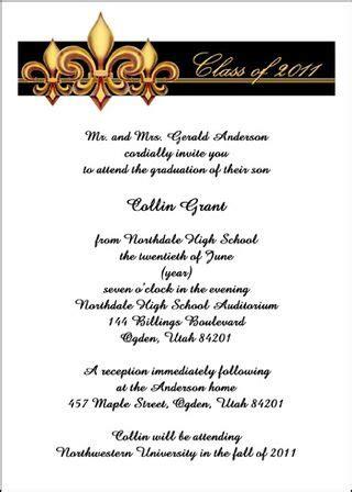 exle high school graduation invitation wording graduation invitations at graduationcardsshop