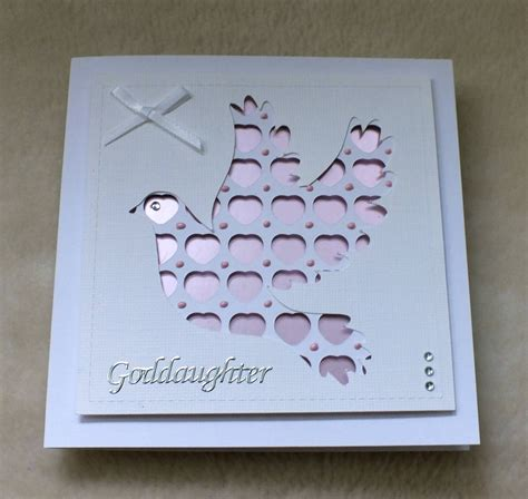 Christening Cards Handmade - handmade goddaughter christening card by mandishella