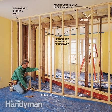 Doors Without End Alternatives how to install a load bearing beam the family handyman
