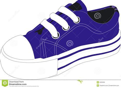 blue tennis shoe clipart