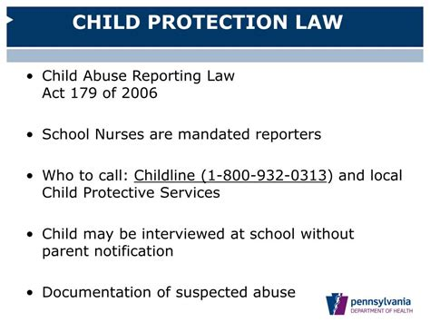 Child Protective Services Records Ppt Pennsylvania Department Of Health Division Of School Health Powerpoint