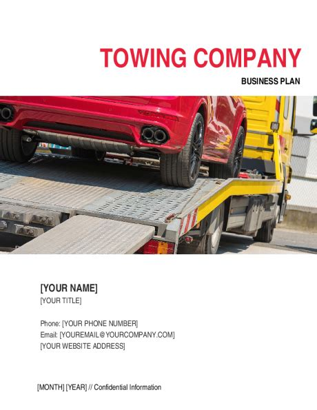 towing business plan template a sle tow truck business plan template autos post