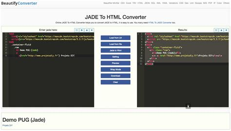 html to pug converter pug jade prepare html interfaces on raspberry pi with geany diy projects