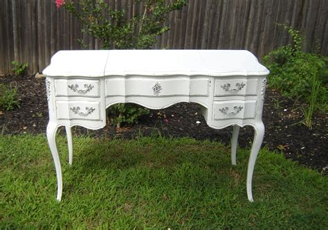 white provincial desk white provincial vanity with mirror or desk