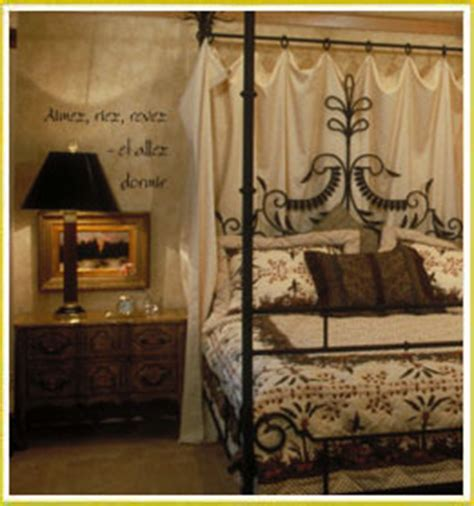 french themed bedroom decor wrought iron bed idea french lettering idea