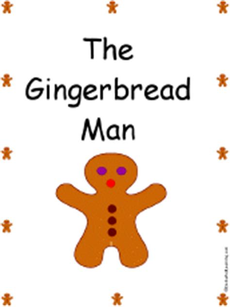 preschool gingerbread man printable book the gingerbread man book a printable book cover