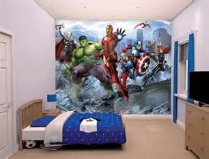 foto posterbehang kinderkamer behang the avengers