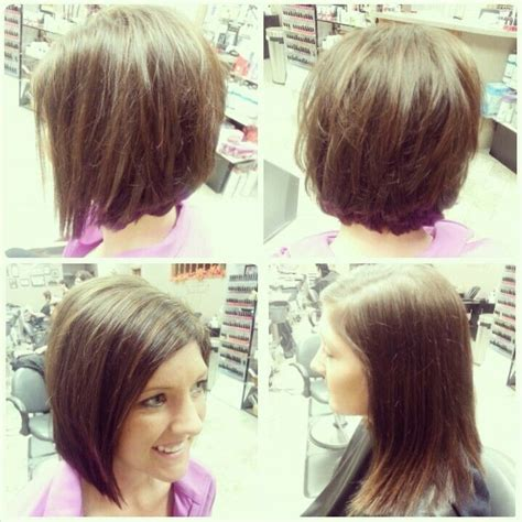 before and after hair styles of faces before and after haircut angled bob layers soft
