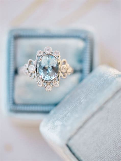 25 best ideas about aquamarine engagement rings on