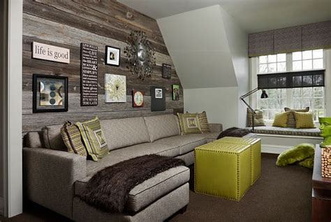 Rustic Living Room Wall Diy Wood Walls Inspiration How To Install Them