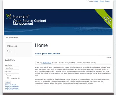 changing the template in joomla web hosting hub