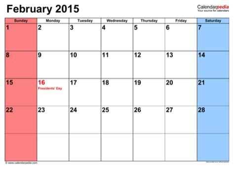 calendar template for february 2015 february 2015 calendar for free formtemplate