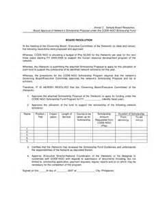 Board Resolution Templates by Board Resolution Template 6 Free Templates In Pdf Word