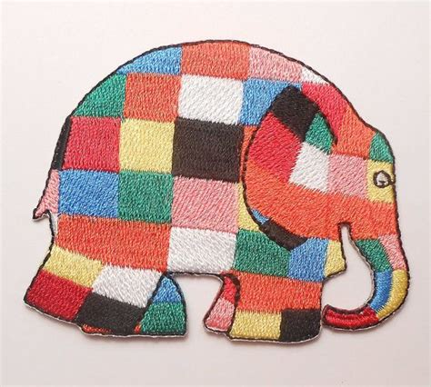 Elma The Patchwork Elephant - elmer the patchwork elephant applique logo hat shirt
