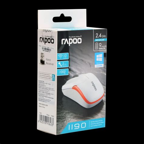 Mouse Wireless Rapoo 1190 rapoo wireless optical mouse 1190 white 51