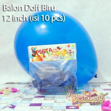 Balon Print Bunga Isi 10 balon doff biru 12 inch isi 10 pcs pestaseru