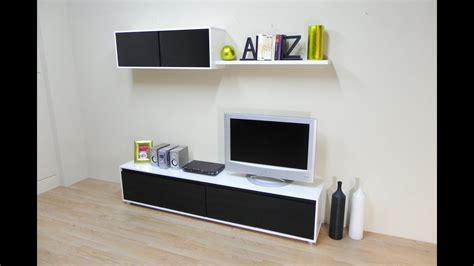 mueble de salon comedor mesa tv modulo alto en color