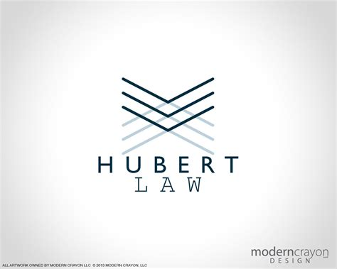 design a modern logo hubert law custom business cards and branding package
