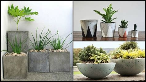 Make Your Own Planters by How To Make Your Own Concrete Planter