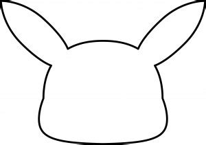 pikachu template mask template images images